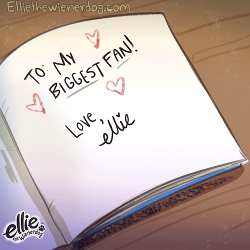 """DID YOU KNOW…""""Pawtographed"""" Copies of Ellie's Books Are Available Now!"""